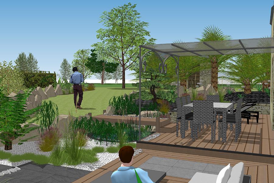 Créa Bati Jardin - Plan 3d Guipry