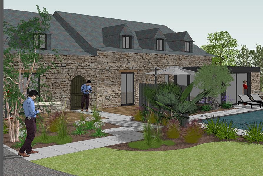 Créa Bati Jardin - Plan 3d Theil